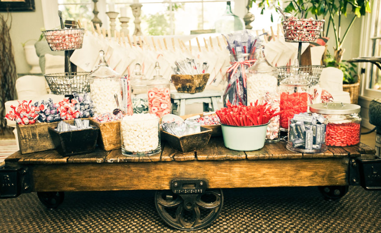 Ice cream station wedding