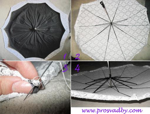 Как сделать зонтик в